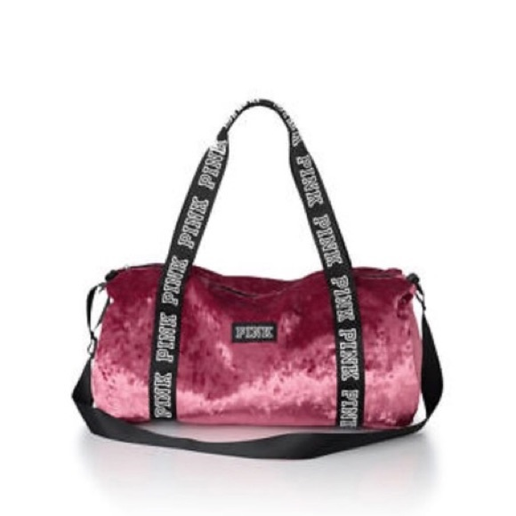 2fc755b10ce7 Victoria s Secret Pink Velvet Duffel Bag